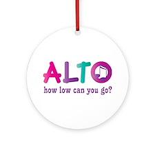 Funny Alto Singing Joke Ornament (Round)