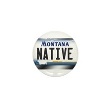 Montana License Plate - [NATIVE] Mini Button (10 p