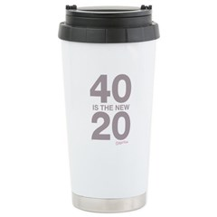 40 Is The New 20 Ceramic Travel Mug