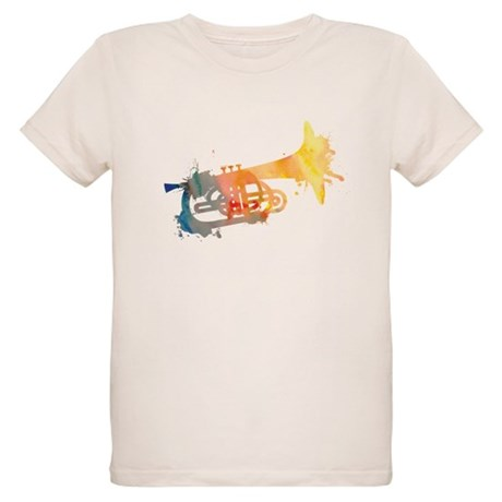 Paint Splat Mellophone Organic Kids T-Shirt
