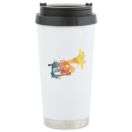 Paint Splat Mellophone Ceramic Travel Mug