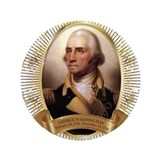 "George Washington Portrait 3.5"" Button"