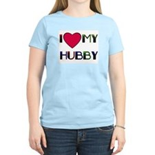 I LOVE MY HUBBY Women's Pink T-Shirt
