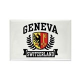 Geneva Switzerland Rectangle Magnet