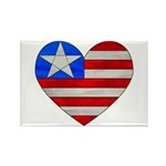 Heart Flag Rectangle Magnet (10 pack)