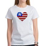 Heart Flag Women's T-Shirt