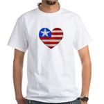 Heart Flag White T-Shirt