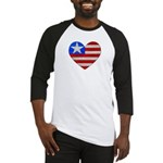 Heart Flag Baseball Jersey
