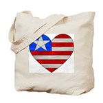 Heart Flag Tote Bag