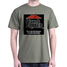 Pizza and Prayer Black T-Shirt