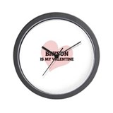 Bryson Is My Valentine Wall Clock