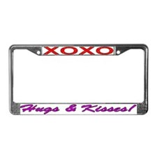 XOXO Hugs & Kisses License Plate Frame