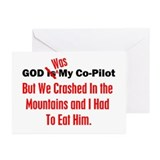 God Was My Copilot Red Greeting Cards (Package of