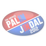 Palin and Jindal 2012 stickers(50pk)