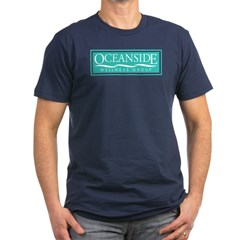 Oceanside Men's Fitted T-Shirt (dark)