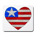 USA Heart Flag Mousepad