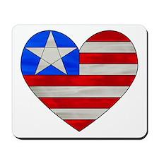 USA Heart Flag Mousepad