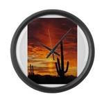 Saquaro Sunset Large Wall Clock