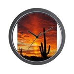 Saquaro Sunset Wall Clock