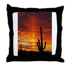 Saquaro Sunset Throw Pillow