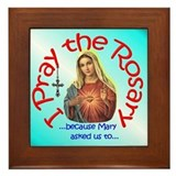 "Pray the Rosary - 6""x6"" Wooden Framed Ti"