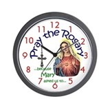 "Pray the Rosary - Standard 10"" Wall Clock (a)"