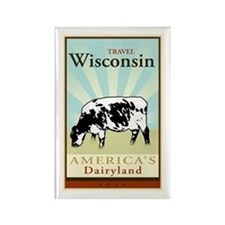 Travel Wisconsin Rectangle Magnet