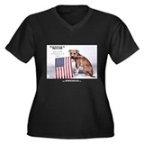 Saving America's Dog Women's Plus Size V-Neck Dark