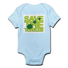 SAVE TURTLES Infant Bodysuit