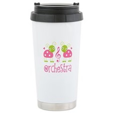 Cute Ladybug Orchestra Ceramic Travel Mug