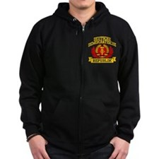 East Germany Coat of Arms Zip Hoodie