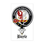 Boyle Clan Badge Crest Rectangle Sticker