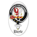 Boyle Clan Badge Crest Oval Sticker