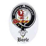 Boyle Clan Badge Crest Oval Ornament