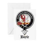 Boyle Clan Badge Crest Greeting Cards (Package of