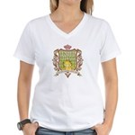 Know It All Garfield Women's V-Neck T-Shirt