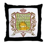 Know It All Garfield Throw Pillow