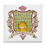 Know It All Garfield Tile Coaster