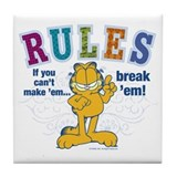 Break 'em Garfield Tile Coaster