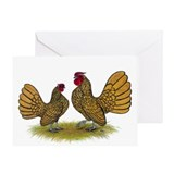 Sebright Golden Bantams Greeting Card