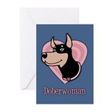 Doberwoman Greeting Cards (Pk of 10)