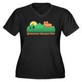 Yellowstone National Park Women's Plus Size V-Neck
