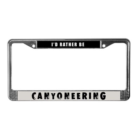 Canyoneering License Plate Frame