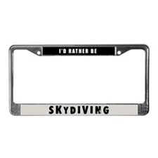 Skydiving License Plate Frame