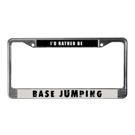 Base Jumping License Plate Frame