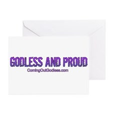 Godless and Proud Greeting Cards (Pk of 10)