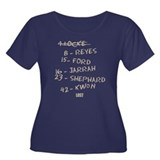 Numbers and Names Women's Plus Size Dark T-Shirt