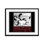 """""""Discipline"""" Spanking Framed Panel Print"""