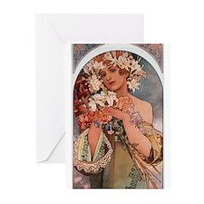 Alphonse Mucha Greeting Cards (Pk of 20)