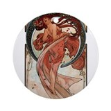 Alphonse Mucha Ornament (Round)